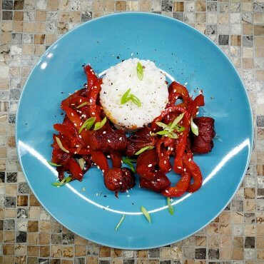 Stir fry sausages korean style