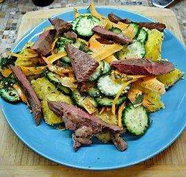 Pickled Vegetables Beef Salad