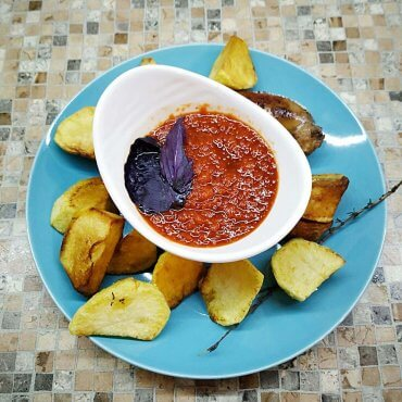 Savoury pepper sauce for meat