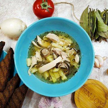 Porcini Mushrooms chicken soup