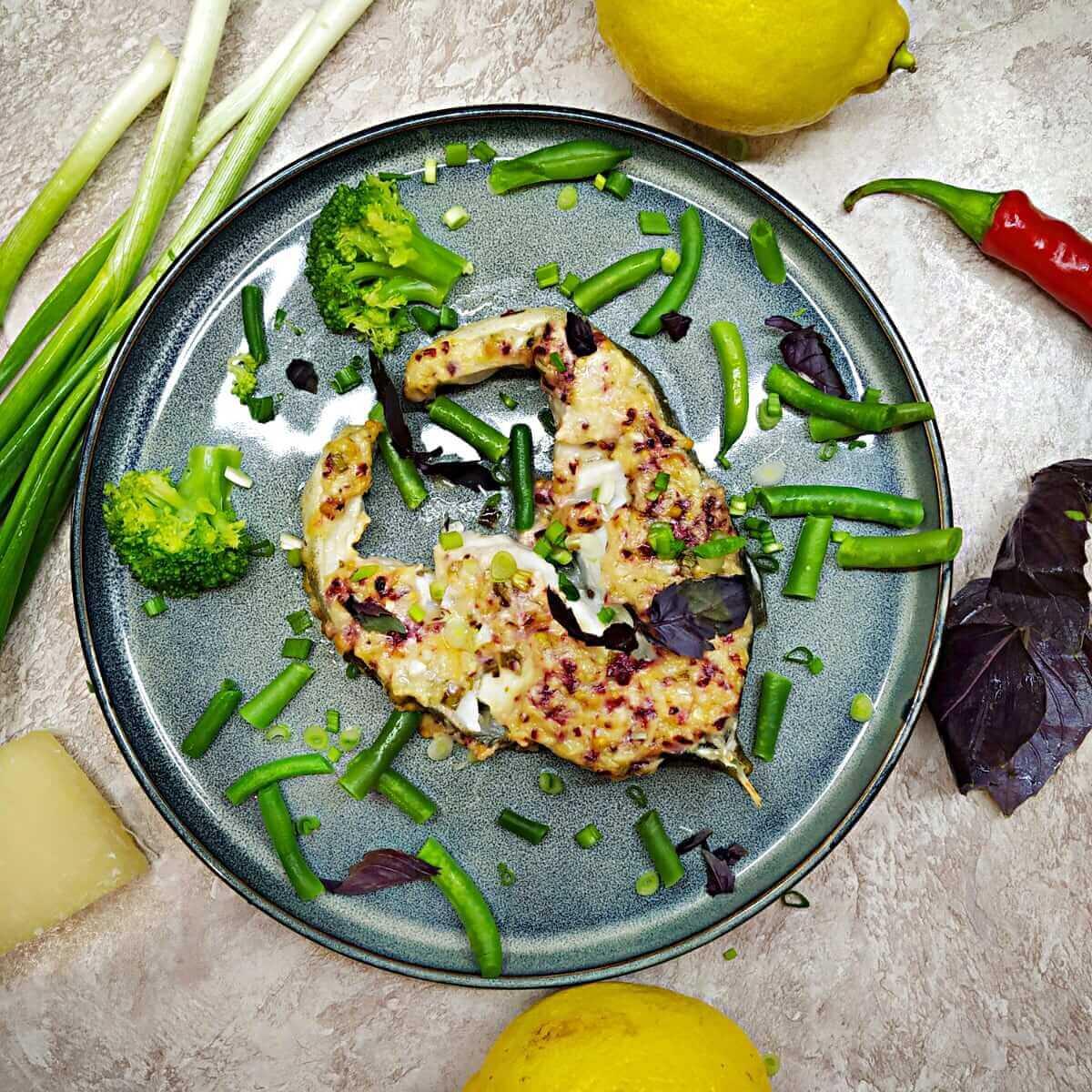 Lemon baked cod fish