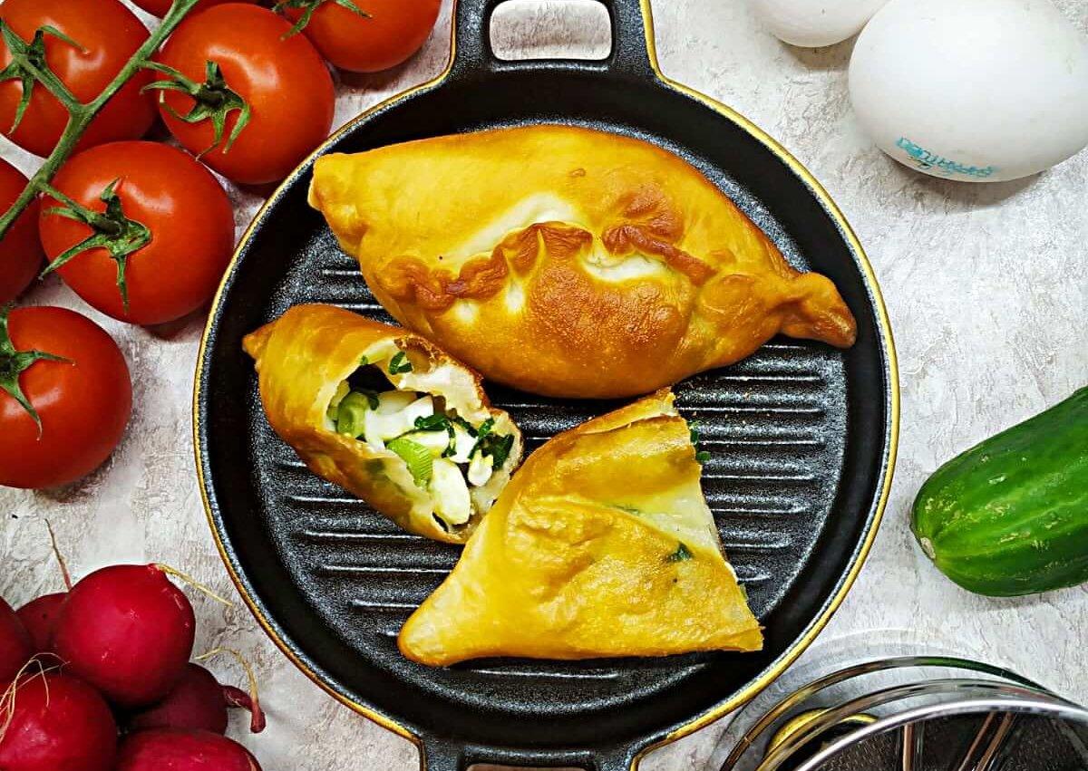 Russian Piroshki Egg and Onion  (Hand Pies)
