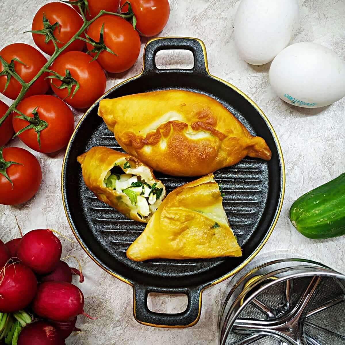 Russian Egg and Onion Hand Pies (Piroshki)