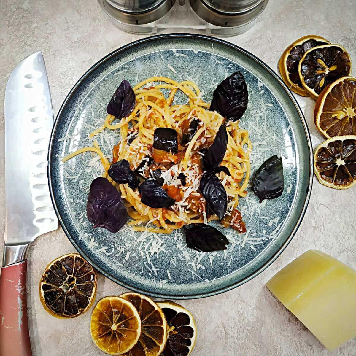 Pasta alla Norma (Eggplant pasta)