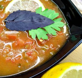 Spiced North African Tomato Soup from cook4yourself.com