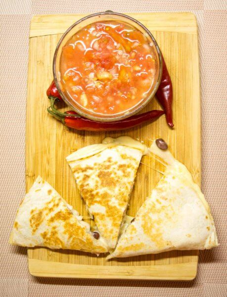 Classic Mexican and Tex Mex cheese quesadilla recipe
