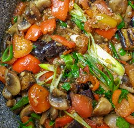 Saute of seasonal vegetables