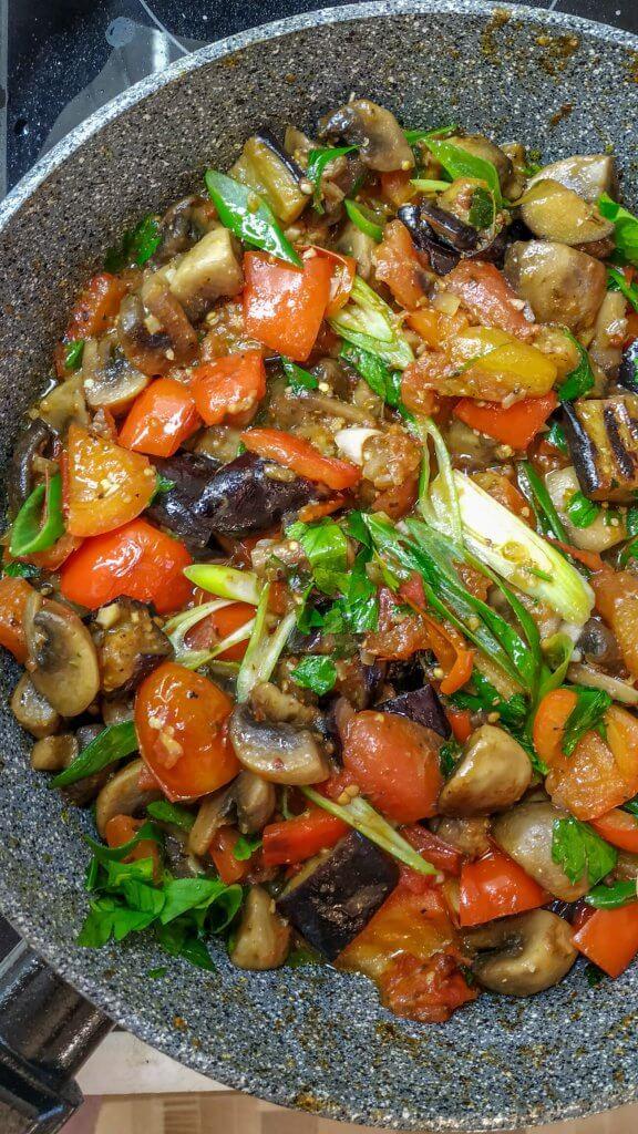Saute of seasonal vegetables